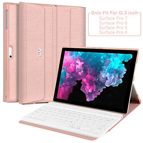 Microsoft Surface Pro 7 Case with Keyboard,Keyboard Case for Microsoft Surface Pro 7 (2019/Surface Pro 6 (2018) / Surface Pro 5(2017)/ Surface Pro 4 (2015) 12.3 inch Tablet