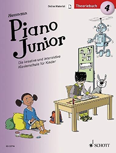 Piano Junior: Theoriebuch 4: Die kreative und interaktive Klavierschule für Kinder. Band 4. Klavier. Ausgabe mit verschiedenen Online-Materialien. (Piano Junior - deutsche Ausgabe)