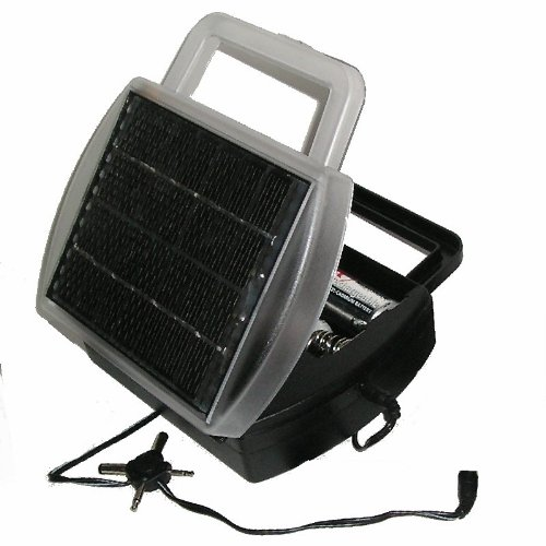 Solar Powered Battery Charger Charges 4 D, C, AA and AAA Batteries