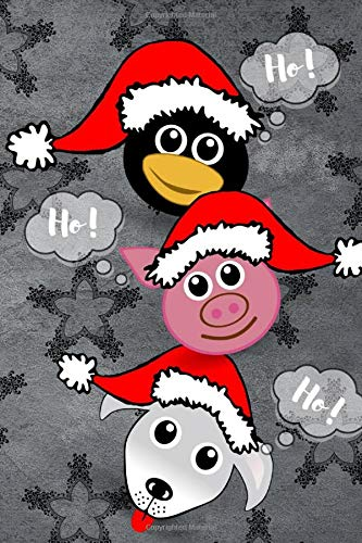 Ho! Ho! Ho!: Cute Merry Christmas Notebook, Merry Christmas Gift for Christmas Lovers, Xmas Journal