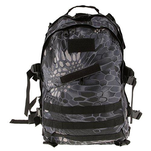 Sac à Dos Tactique Etanche Voyage Camping Randonnée - 40L, Python Noir