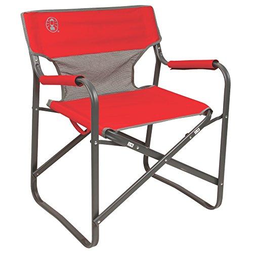 Coleman 2000019421 Chair Steel Deck Red