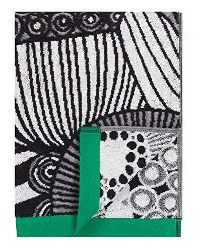 Marimekko - Siirtolapuutarha - Handtuch - Grün/Weiß/Schwarz - 50x100cm