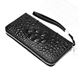 Rangren Genuine Leather Business Mens Clutch Bag Organizer Handbag Phone Card Carrier Purse Long Wallet