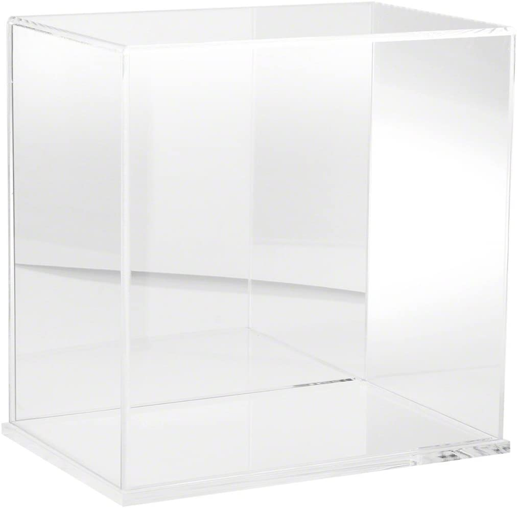 Plymor Clear Acrylic Display Case Cash special price Mirror Japan's largest assortment with Base Back