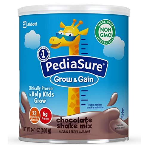 PediaSure Grow & Gain Non-GMO & Gluten-Free Shake Mix Powder, Nutritional Shake For Kids, With Protein, Probiotics, DHA, Antioxidants*, and Vitamins & Minerals, Chocolate, 14.1 oz, 6 Count