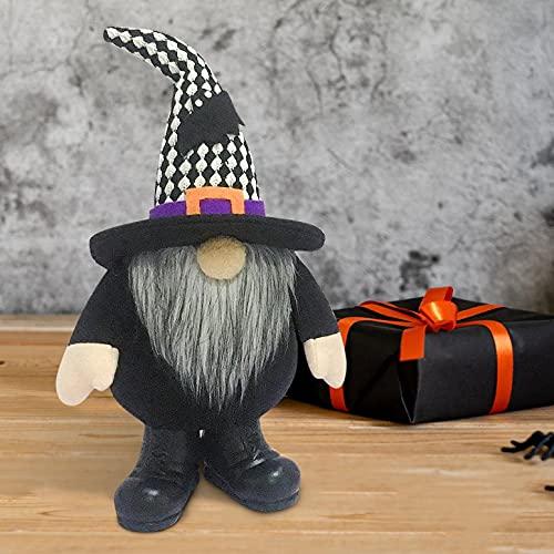 JSONA Bruja Halloween Gnomos Decoraciones Navidad Hecho a Mano Muñeco de Peluche...