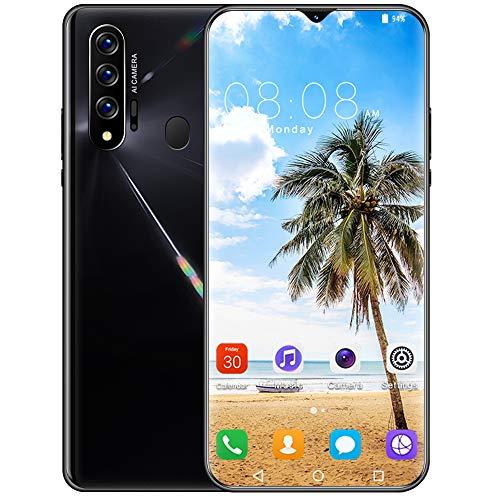 携帯電話、nowa 7 pro 5gAndroidフォンロック解除無料SIMカードスマートフォン10コア6.5inHD8 + 512GB 13MP + 24MP指紋+顔認識4800mAhAndroid 10.0