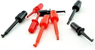HiLetgo 20個セット 小形サイズ クリップテスト フックテスト 10黒+10赤合計 [並行輸入品]
