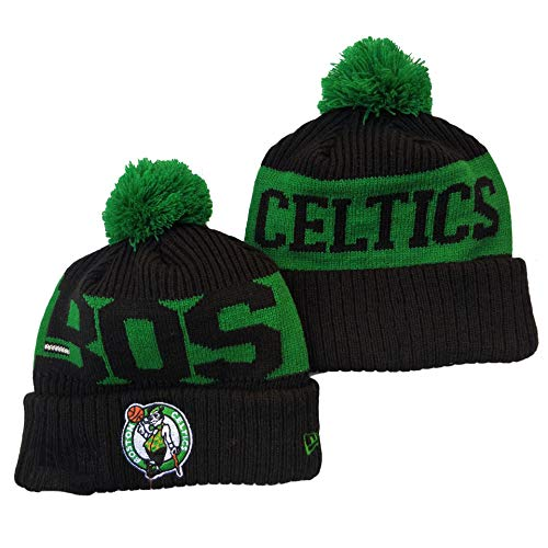 G-III Sports 2019 2020 for Adult Men & Women Sideline Sport Knit Winter Pom Knit Hat Cap Boston Celtics(2) Biggest Fan Knit Beanie with Pom