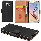 Aicoco Galaxy S6 Hülle Schutzhülle Tasche Flip Case für
