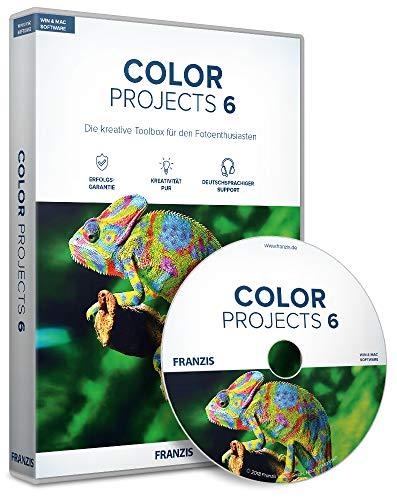 FRANZIS COLOR projects 6 Version 6 Bildbearbeitung, die inspiriert Vollversion für Windows und Mac Disc Disc