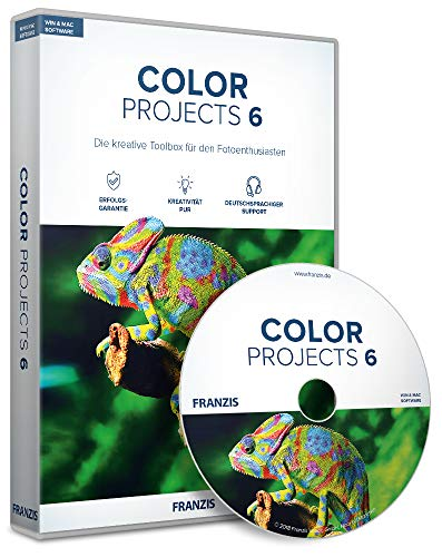 FRANZIS COLOR projects 6|Version 6|Bildbearbeitung, die inspiriert|Vollversion|für Windows und Mac|Disc|Disc