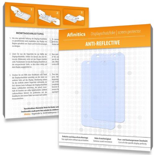 Afinitics 2 x Pellicola Proteggi Schermo Anti-riflesso, for Zopo ZP980/980/ZP980 ZP-Plus, Alta qualità, Trasparente, antiriflesso, Rivestimento Duro, Applicazione Senza Bolle