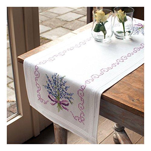 Vervaco Kit chemin de table Lavande