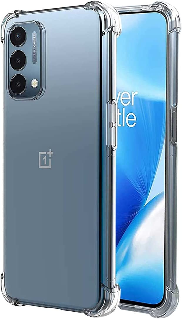 FollmeAir for OnePlus Nord N200 5G Case, Slim Flexible TPU for Girls Women Airbag Bumper Shock Absorption Rubber Soft Silicone Case Cover Fit for OnePlus Nord N200 5G (Clear)