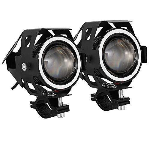 Motorrad Scheinwerfer,Motorrad Zusatzscheinwerfer LED,CREE U7 Motorradscheinwerfer, 2000LM 30W mit Schalter, 3 Modi für Motorrad Roller Auto Fahrrad LKW Boot
