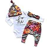 Newborn Baby Girl Clothes I'm New Here Infant Newborn Outfit Cute Baby Girl Outfits 4PC Set Newborn