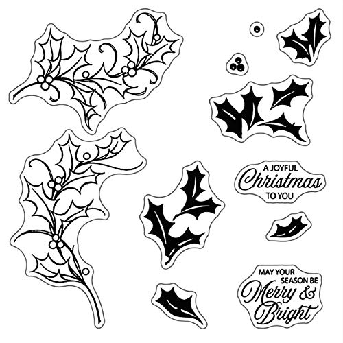 TheHAD 2020 New Metal Cutting Dies and Scrapbooking for Paper Making Merry Christmas Leaf Embossing Card Clear Stamps Stampin Up Set - Dies