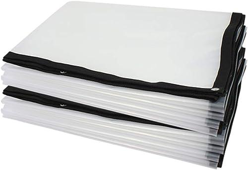 ZKKWLL Bache Bache épaisse imperméable, Film Plastique Transparent Blanc, bache isolée par Effet de Serre Bache Transparente (Couleur   A, Taille   4  6m)