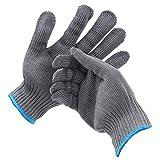 M MAXIMUMCATCH Maxcatch Cut Resistant Fishing Fillet Gloves 1 Pair/ 2 Pairs, XL (Grey, 2 Pairs, XL)