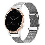 Keweni Correa Compatible con Garmin Vivoactive 4S, Correas de Repuesto de Reloj Inteligente de Metal de 18mm para Garmin...