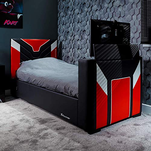 Cerberus X Rocker Side-Lift Ottoman TV Gaming Bed