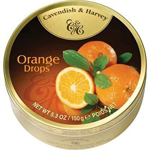 Cavendish & Harvey Fruit Tin - Orange, 5.3-Ounce