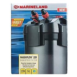 professional Canister Filter Marineland Magniflow 220GPH For Aquarium Easy Maintenance