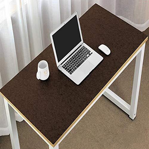Erweiterte große Schreibtischunterlage aus Filz, ultradick, antistatisch, für Maus und Tastatur, Gaming-Pad, Schreiben, Laptop-Matte, rutschfest, für Büro und Zuhause, 90 x 45 cm, braun