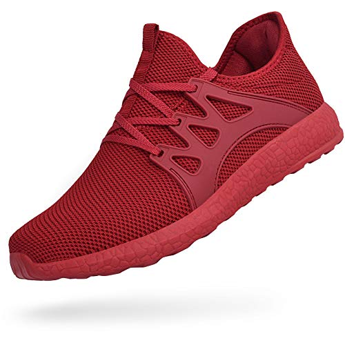 Troadlop Womens Fashion Sneakers Ultra Lightweight Knitted Running Shoes Athletic Casual Walking Red 8 US