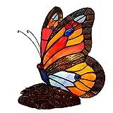 Tiffany Style Butterfly Lámpara De Mesa Vintage Vitral Pantalla De Escritorio Luz De Noche Decoración Artística Lámparas De Noche para Niños Dormitorio Sala De Estar Bar Cafe Mesa