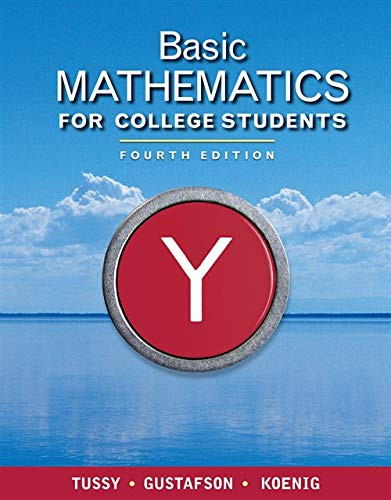 Basic Mathematics for College Students (Available Titles CourseMate)