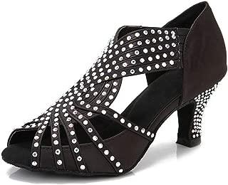Women Rhinestone Dance Shoes Ballroom Latin Salsa Bachata Performance Dance Dancing Shoes