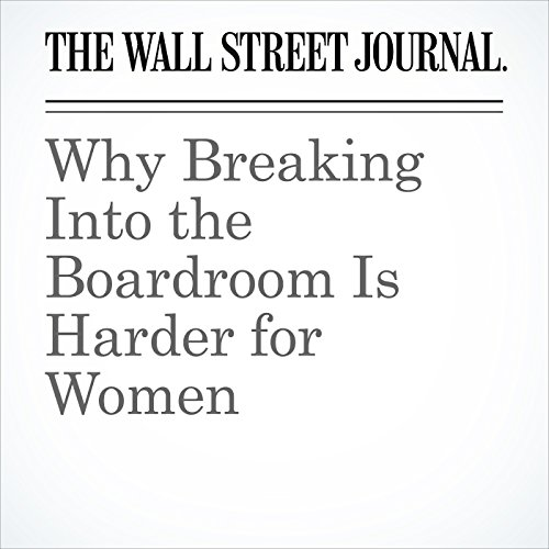 Why Breaking Into the Boardroom Is Harder for Women copertina