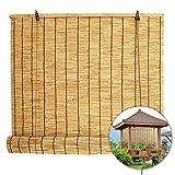 L-DREAM Persianas Enrollables De Bambú 90cm para Ventanas Y Puertas, Cortina De Bambú para Exteriores E Interiores, Parasol, Transpirables, Cocina Estores De Bambú - Personalizable