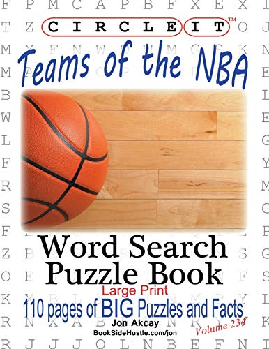 Circle It, Teams of the NBA, Word Search, Puzzle Book