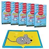Wemk Piege a Souris Piege a Rat, Piege a Glue Anti Rongeur Attrape Souris raticide Professionnel Colle pour Souris Pack de 10 pieges - Grande Taille A4