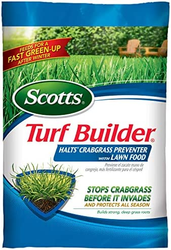 Scotts Turf Builder Halts Crabgrass Preventer with Lawn Food: Covers up to 5,000 sq. ft., 13.35 lbs., Not Available in FL