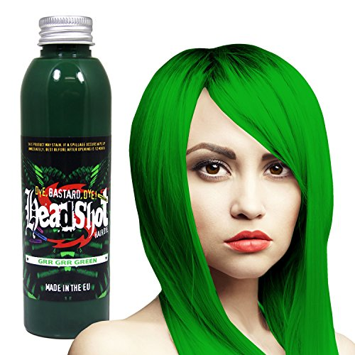 Grüne Haarfarbe Headshot Grr Grr Green, Semi-permanente Haartönung 150 ml