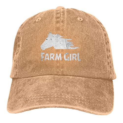 KioHp Farm Meisje Paard Klassiek Plain Verschillende Stijl Grote Honkbal Cap Fit Outdoor Activiteiten Houd Hoofd Cool Zes Panel Cap