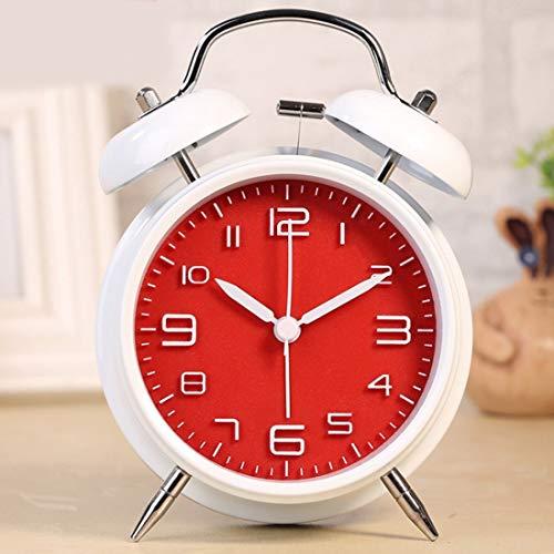 Elektronischer Digital-Wecker 4-Zoll-Weinlese laute Glocke Wecker Tinkerbell Wecker mit Hintergrundbeleuchtung for Schlafzimmer Tabellen-Ausgangsdekoration Fahralarm Mini Clock Nacht Wecker Sleep Time