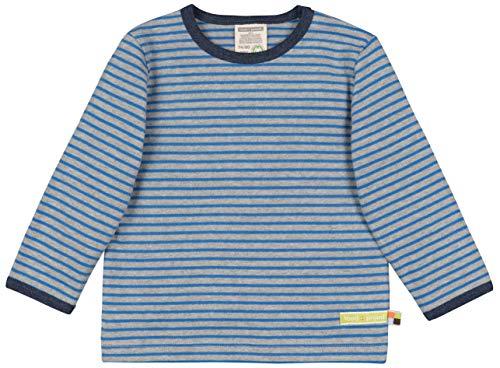loud + proud Kinder-Unisex Shirt Ringel Aus Bio Baumwolle, GOTS Zertifiziert Sweatshirt, Grau (Grey Gr), 80 (Herstellergröße: 74/80)
