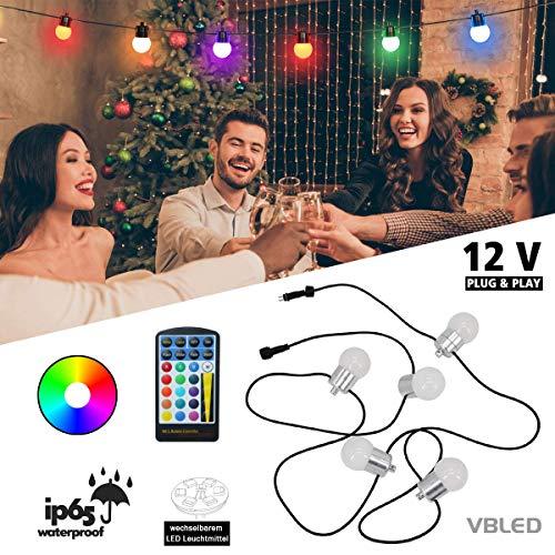 VBLED® LED bal RGB + WW lichtketting met afstandsbediening en verlichting verwisselbaar