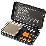 JAAIFC Mini Escala Digital Scale Máquina de precisión de Escala de gram Herramientas de pesaje con tamaño de Bolsillo 200G x 0.01g (Color : Black)