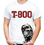 Terminator Männer und Herren T-Shirt   Cyborg Schwarzenegger Kult Geschenk   M2 (XL, Weiß)