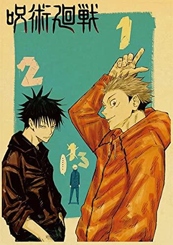 JHGJHK Manga incantation Back to Battle japansk manga oljemålning sovrum dekoration målning serietidning fläkt rum dekoration målning 6
