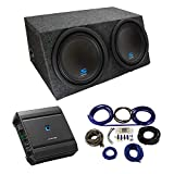 Universal Car Stereo Hatchback Sealed Dual 12' Alpine Type S S-W12D2 Sub Box Enclosure with S-A60M Amplifier & 4GA Amp Kit