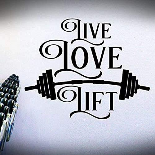 Fitness ejercicio 57x73cm halterofilia gimnasio moda pegatinas de pared calcomanías de arte DIY