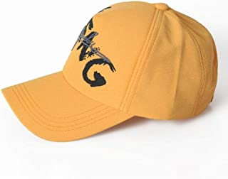 YAKADLY Ladies Spring Summer Caps Wild Street Sun Sun Protection Baseball Cap 5 (Color : Yellow)